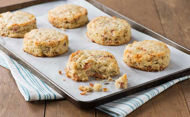 Bacon and Stilton Scones
