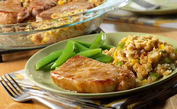 Pork & Corn Stuffing Bake