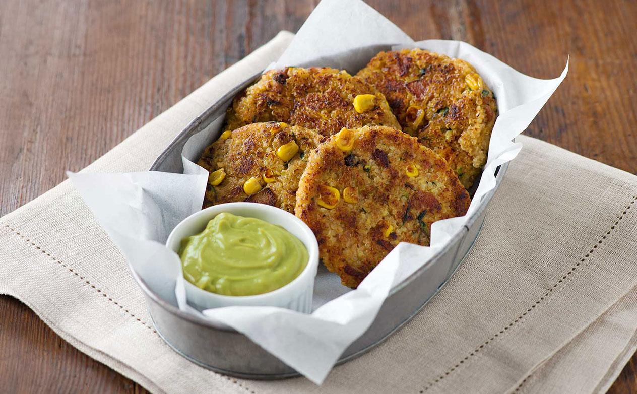 Zucchini, Corn and Quinoa Fritters Recipe at GEAppliances.com