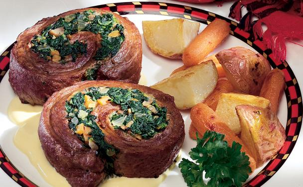 Beef & Spinach Pinwheels