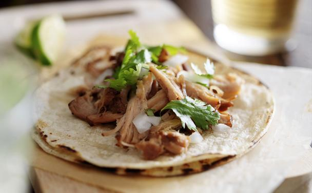 Slow Cooker Pork Carnitas with Pickled Red Onions