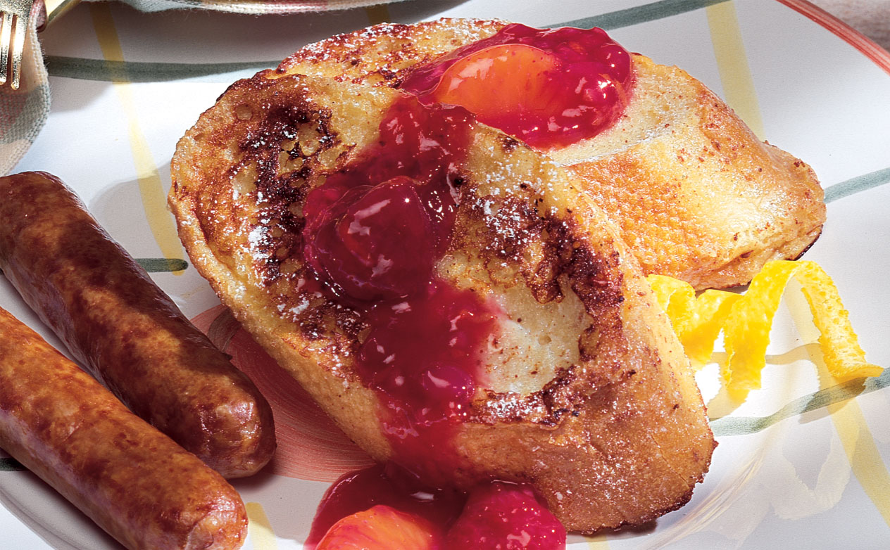 French Toast with Raspberry Orange Sauce