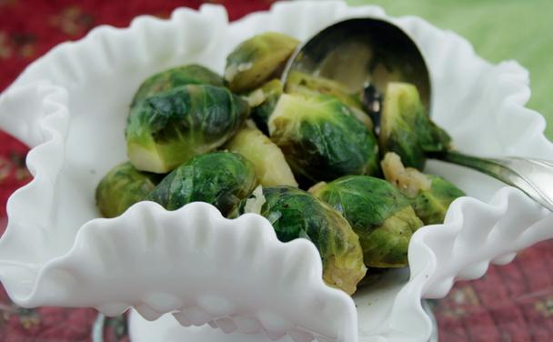 Sauteed Brussels Sprouts with Shallots