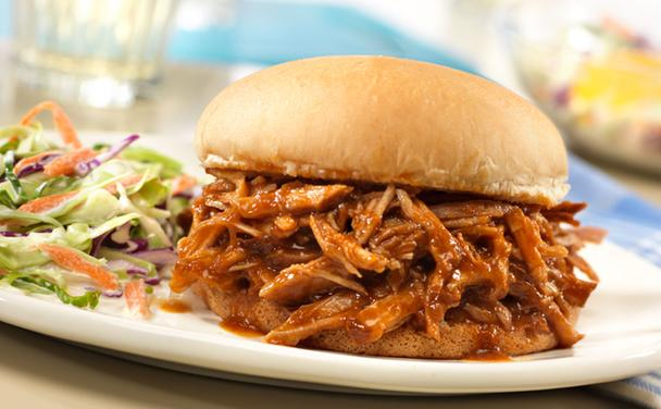 Slow Cooked Pulled Pork Sandwich