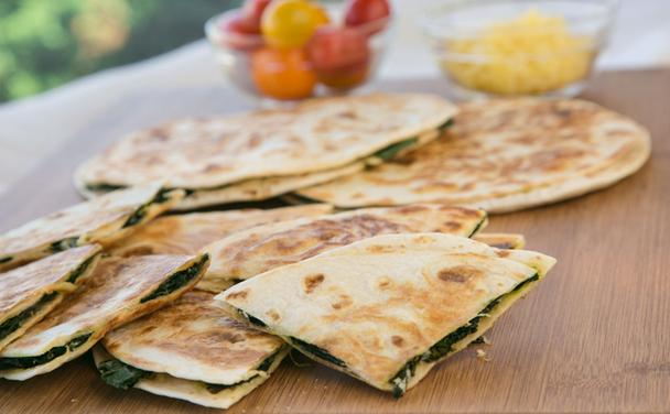 Spicy Kale Quesadillas