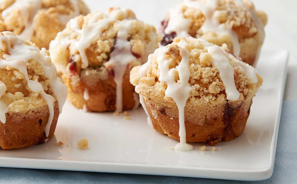 Cherry-Cream Cheese Crumb Cake Bombs